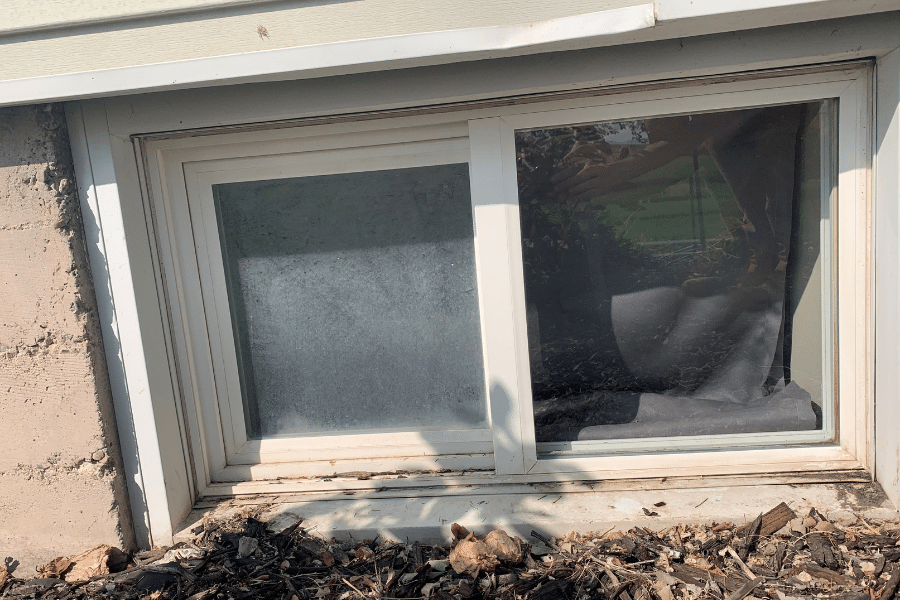 A dirt pane that we're taking care of that does window cleaning near Logan Utah.